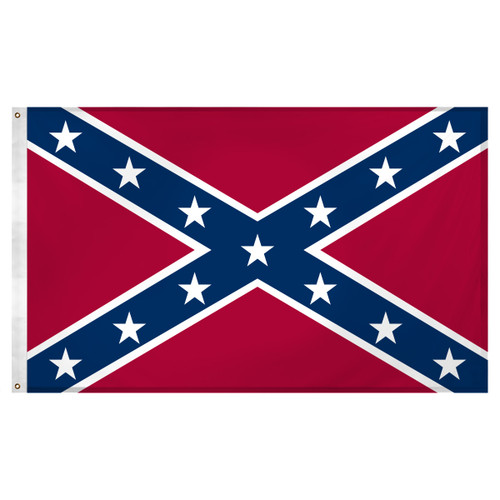 Confederate Flag 5ft x 8ft Super Knit - Rebel Flag