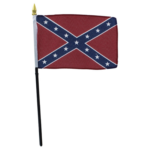 Confederate flag 4 x 6 inch - Rebel Flag