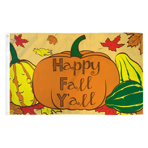 Happy Fall Y'all Flag - 3ft x 5ft Printed Polyester