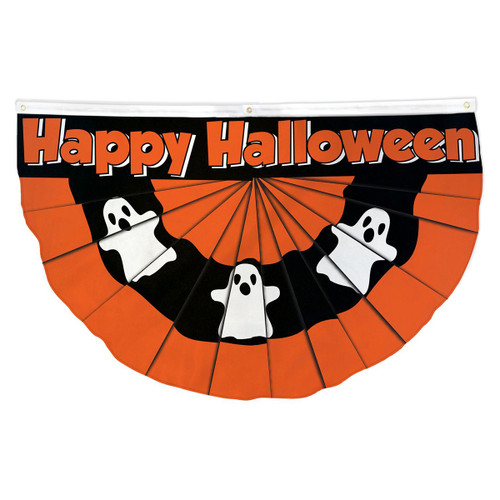 Halloween Bunting Ghost Flag - 3ft x 5 ft Printed Polyester