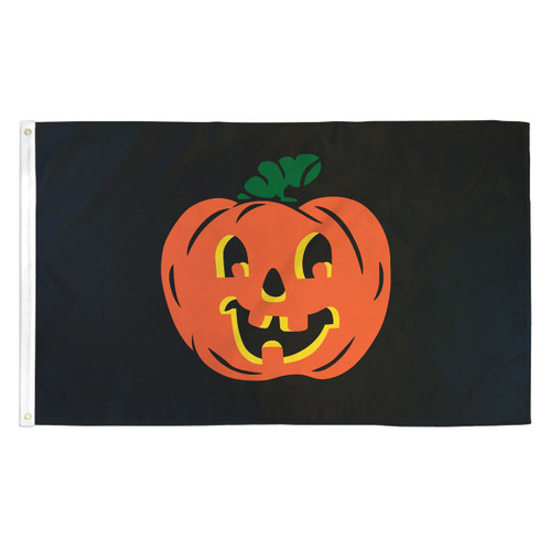 Halloween Pumpkin Flag - 3ft x 5ft Printed Polyester