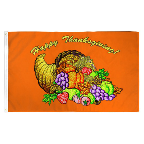 Thanksgiving Flag - 3ft x 5ft Printed Polyester