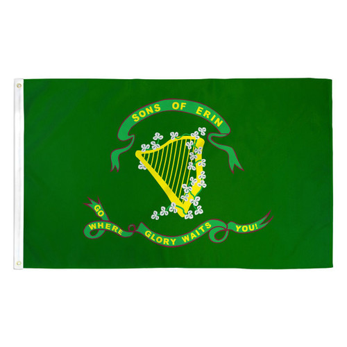 Sons of Erin Flag - 3ft x 5ft Printed Polyester