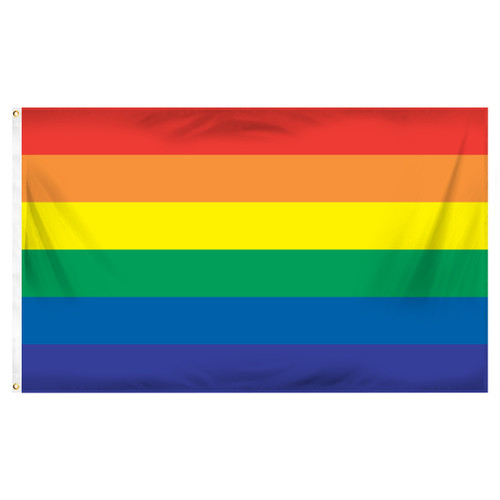 3ft x 5ft Rainbow Flag - Printed Polyester