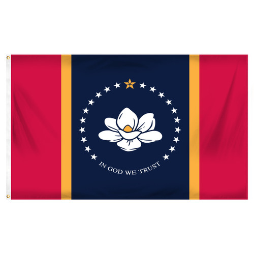 New Mississippi 3ft x 5ft Printed Polyester Flag