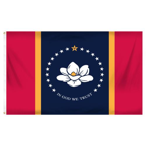 New Mississippi Flag 2 x 3 Feet Nylon