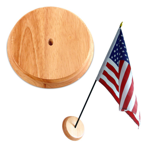 Solid Wooden Wall Mount for 12in x 18in Flags - Oak