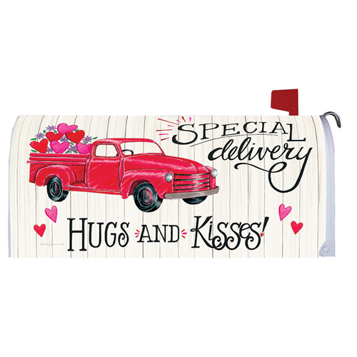 Valentines Day Mailbox Cover - Special Delivery