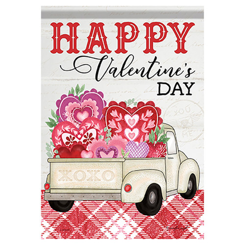Valentine Garden Flag - Truckload of Love