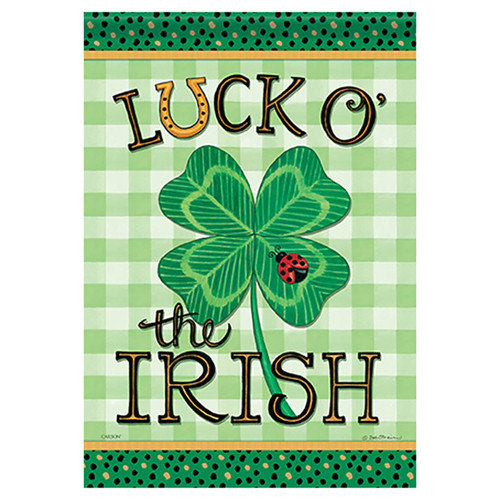 St. Patrick's Day Banner Flag - Luck O' The Irish