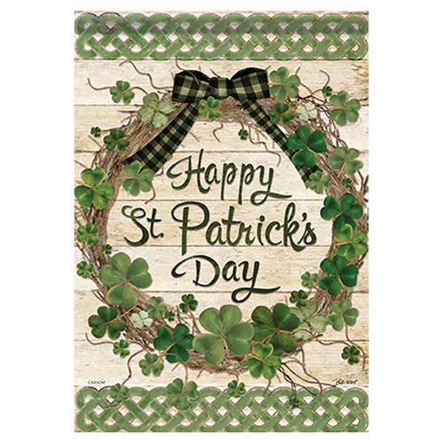 St. Patrick's Day Banner Flag - Grapevine Shamrocks