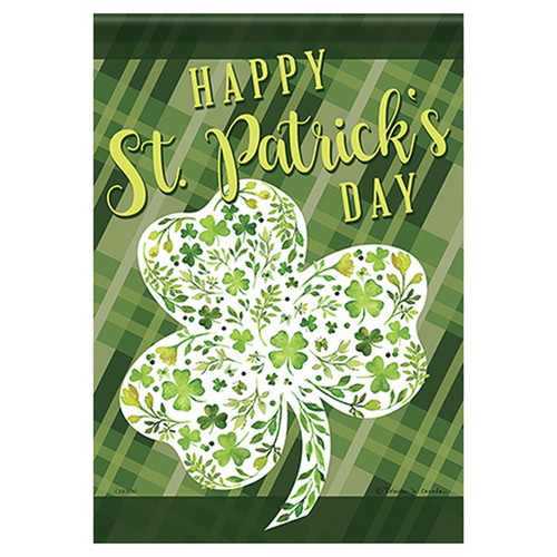 St. Patty's Day Banner Flag - Floral Shamrock