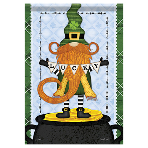 St. Patrick's Day Gnome Garden Flag