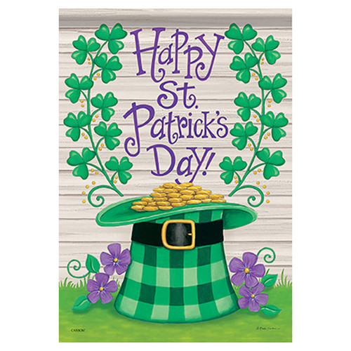 St. Patrick's Day Hat Garden Flag