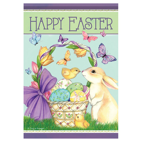 Easter Garden Flag - Spring Friends