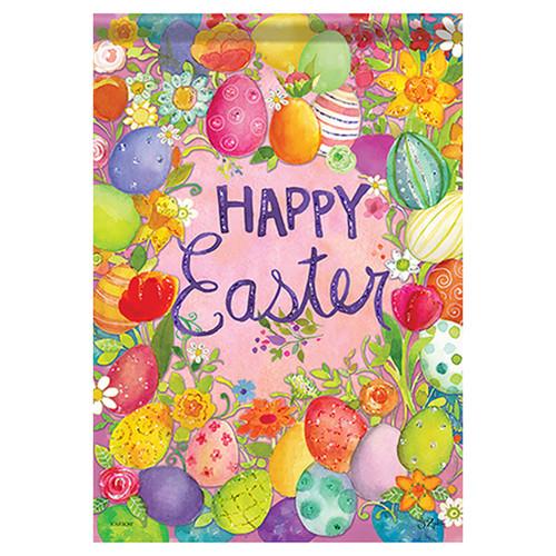 Easter Banner Flag - Happy Egg Frame