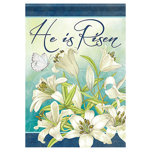 Easter Banner Flag - Blooming Lilies