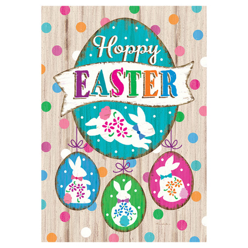Easter Garden Flag - Wooden Easter