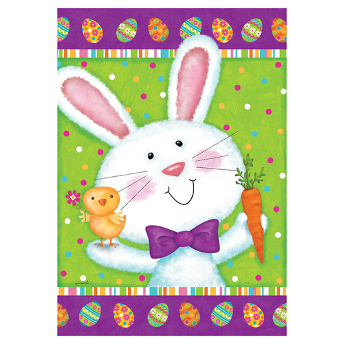 Easter Banner Flag - Bowtie Bunny