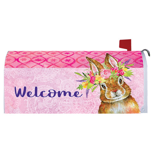 Easter Mailbox Cover - Bunny Wreath