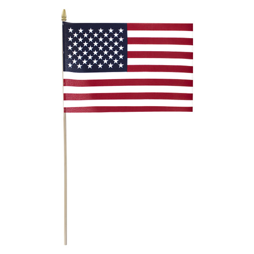 "Super Tough US Stick Flag 12""x18"" 30"" x 3/8"" No Fray  -US Made"