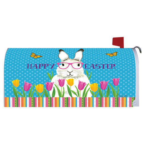 Easter Mailbox Cover - Bunny with Glasses