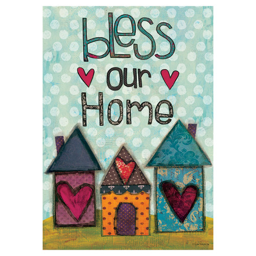 Bless Our Home Banner Flag