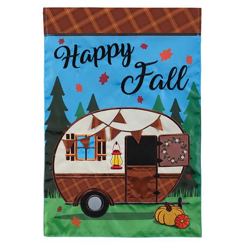 Carson Fall Applique Garden Flag - Fall Camper