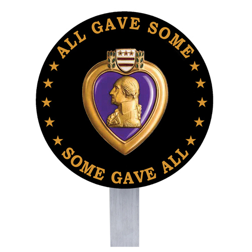 Purple Heart Grave Flag Holder