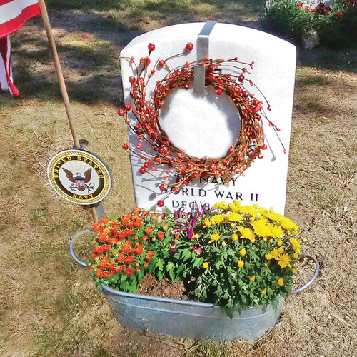 Military Headstone Wreath Hanger