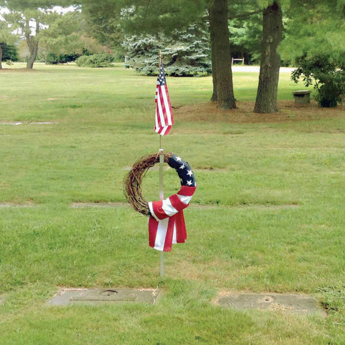 Monumental Wreath & Flag Holder