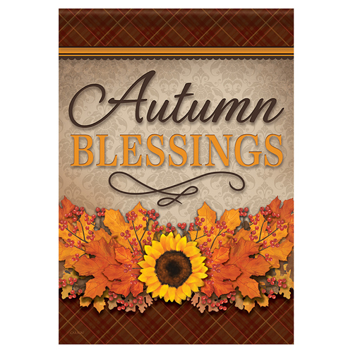 Carson Fall Garden Flag - Autumn Blessings Floral