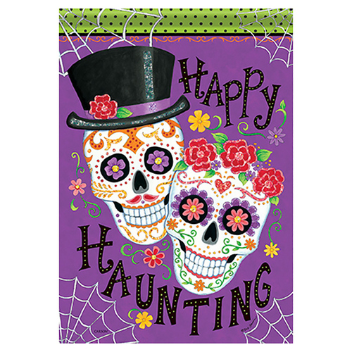 Carson Halloween Garden Flag - Happily Haunting