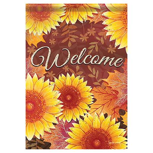 Carson Fall Garden Flag - Layered Sunflowers