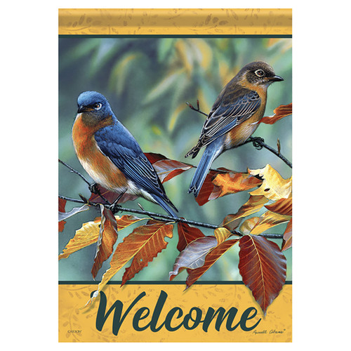 Carson Fall Banner Flag - Beech Leaf Birds