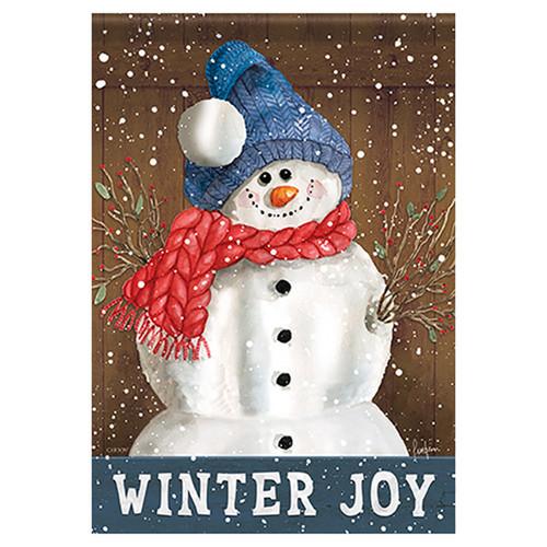 Carson Winter Garden Flag - Joy of Winter