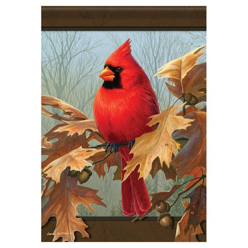 Carson Fall Garden Flag - Cardinal & Oak