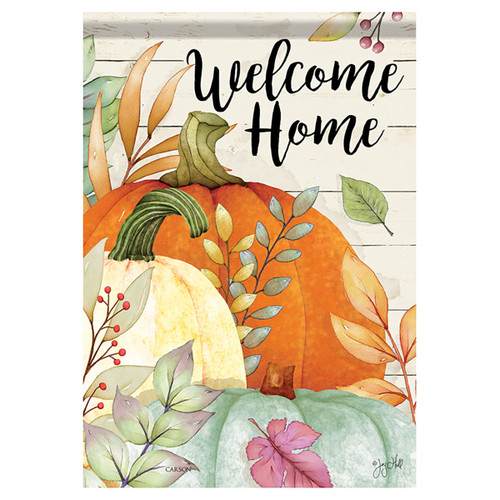 Carson Fall Banner Flag - Watercolor Pumpkins