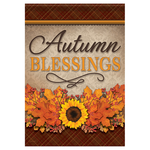 Carson Fall Banner Flag - Autumn Blessings Floral