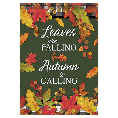 Carson Fall Banner Flag - Leaves are Falling