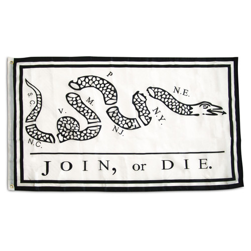 3' x 5' Join or Die Flag - Super Polyester