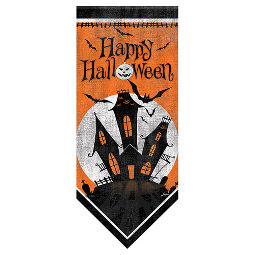 Carson Halloween Long Banner Flag - Haunted Mansion