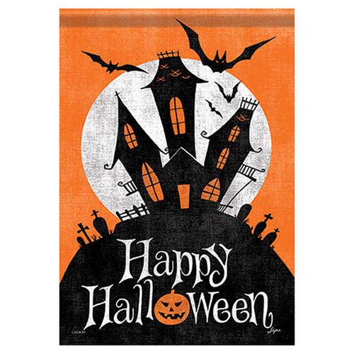 Carson Halloween Garden Flag - Haunted Mansion