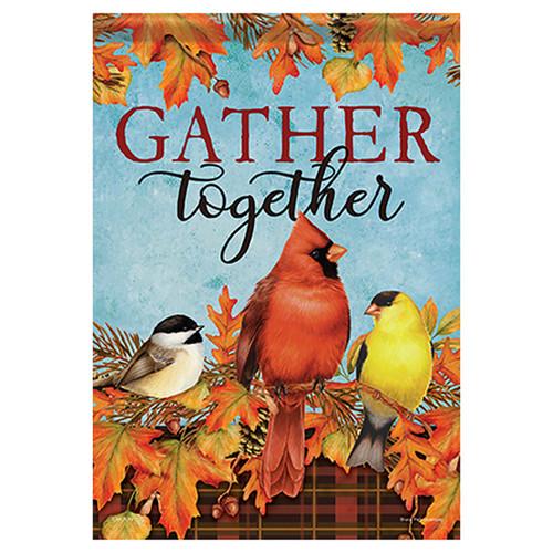 Carson Fall Garden Flag - Autumn Songbirds