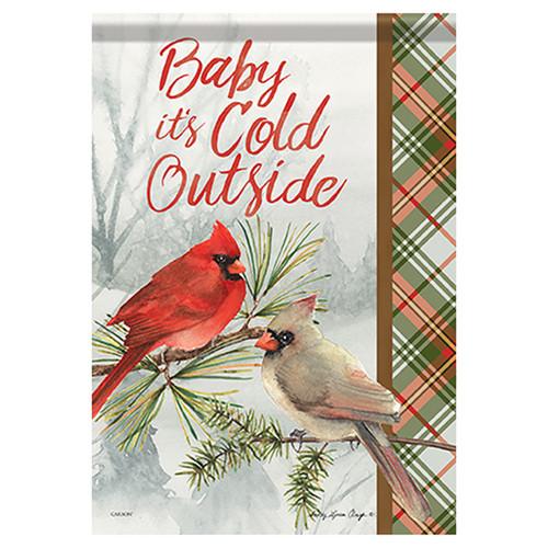 Carson Winter Garden Flag - Winter Cardinal Pair