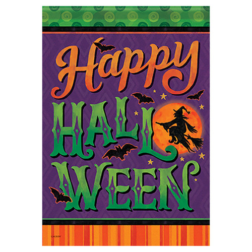 Carson Halloween Garden Flag - Moonlight Ride