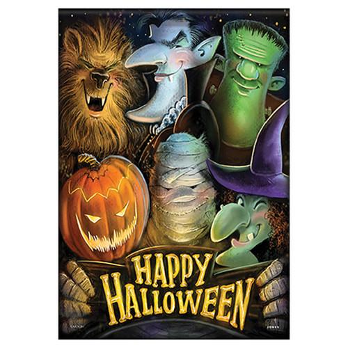 Carson Halloween Garden Flag - Halloween Selfie