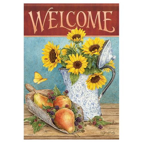 Carson Fall Banner Flag - Sunflowers & Pears
