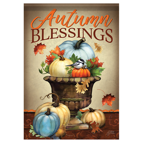Carson Thanksgiving Banner Flag - Pumpkin Planter