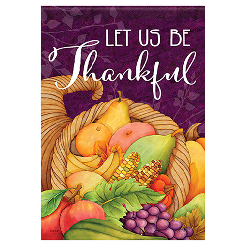 Carson Thanksgiving Banner Flag - Let Us Be Thankful